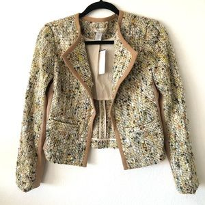 Tweed Open Blazer By Cache